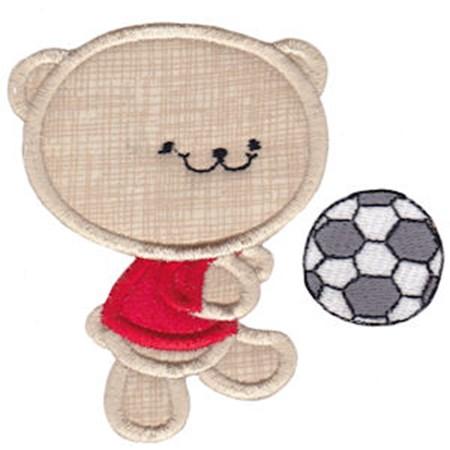 2 Cute Bears Applique 1