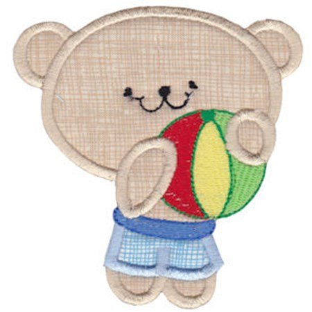 2 Cute Bears Applique 14