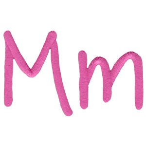 All Things Pink Alphabet M