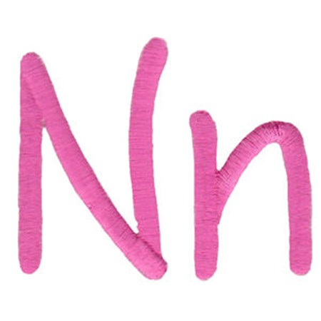 All Things Pink Alphabet N