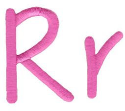 All Things Pink Alphabet R