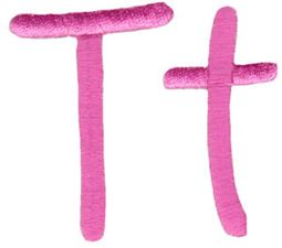 All Things Pink Alphabet T