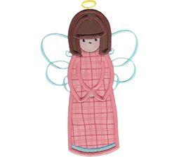Angels Applique 5x7 6x10 8