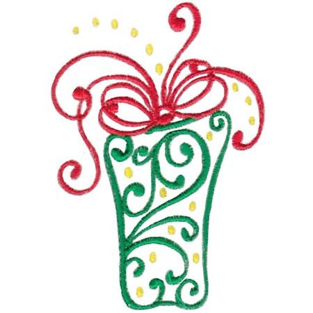 Baroque Swirly Christmas Present