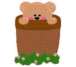 Bear in flower pot thatched