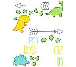 Dinosaur Birth Announcement US pm