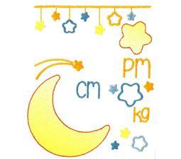 Moon Birth Announcement Metric pm