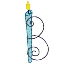 Birthday Candles Alphabet Capital B