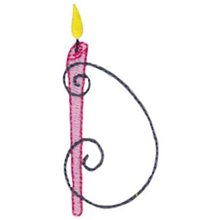 Birthday Candles Alphabet Capital D
