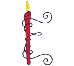 Birthday Candles Alphabet Capital E
