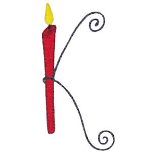 Birthday Candles Alphabet Capital K