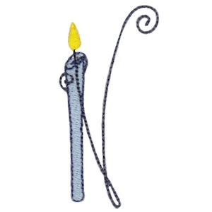 Birthday Candles Alphabet Capital N