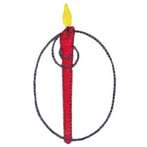 Birthday Candles Alphabet Capital O
