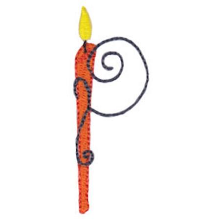 Birthday Candles Alphabet Capital P