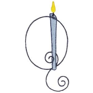 Birthday Candles Alphabet Capital Q