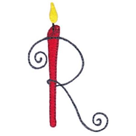 Birthday Candles Alphabet Capital R