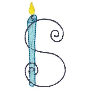Birthday Candles Alphabet Capital S