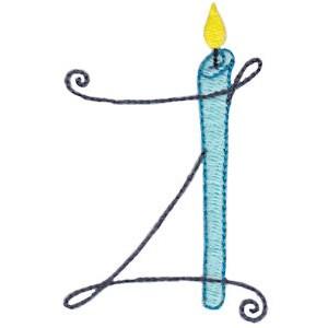 Birthday Candles Alphabet Capital Z