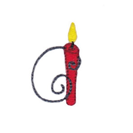 Birthday Candles Alphabet Lower Case a
