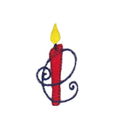 Birthday Candles Alphabet Lower Case e