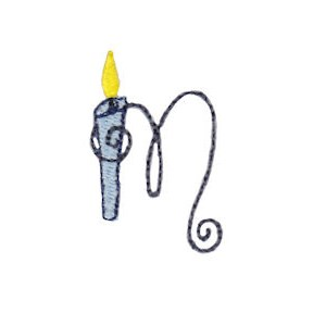 Birthday Candles Alphabet Lower Case m