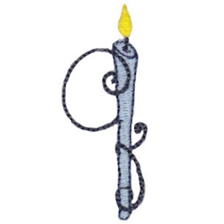 Birthday Candles Alphabet Lower Case q