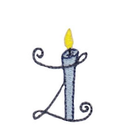 Birthday Candles Alphabet Lower Case z
