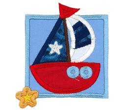 Nautical Sail Boat Applique