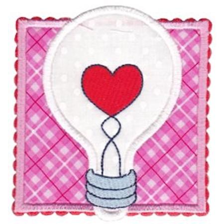 Heart Lightbulb Applique
