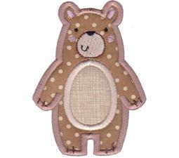 Boxy Bear Applique