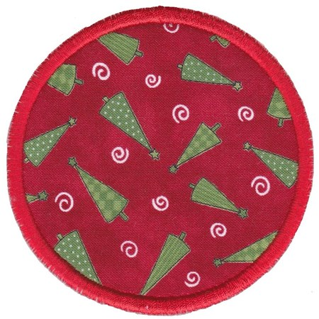 Christmas Coasters Applique 13