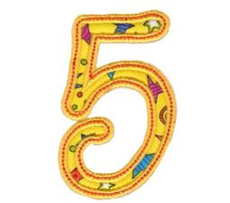 Curly Girl Alphabet Applique 5