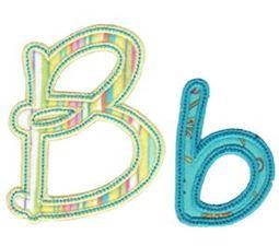 Curly Girl Alphabet Applique B