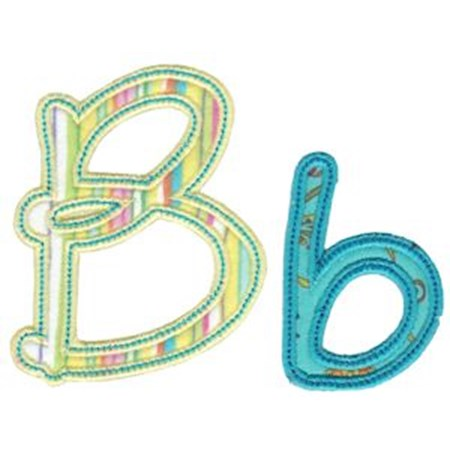 Curly Girl Alphabet Applique B