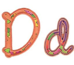Curly Girl Alphabet Applique D