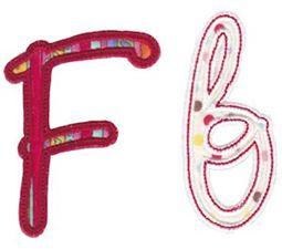 Curly Girl Alphabet Applique F