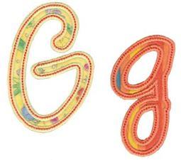 Curly Girl Alphabet Applique G