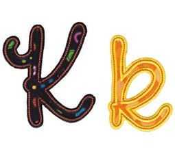Curly Girl Alphabet Applique K