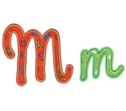 Curly Girl Alphabet Applique M