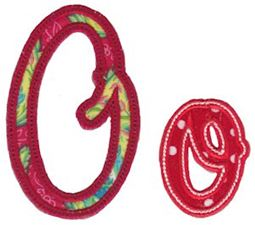 Curly Girl Alphabet Applique O