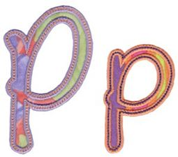Curly Girl Alphabet Applique P