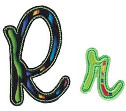 Curly Girl Alphabet Applique R