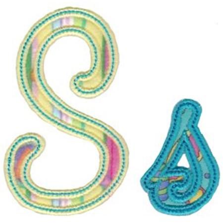 Curly Girl Alphabet Applique S
