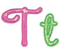 Curly Girl Alphabet Applique T