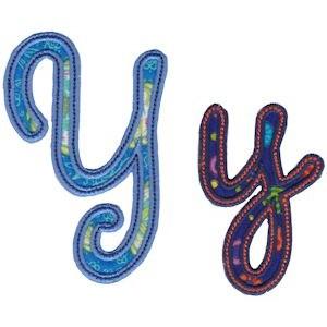 Curly Girl Alphabet Applique Y