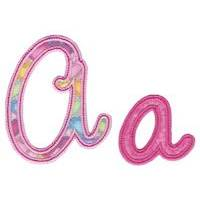 Curly Girl Alphabet Applique