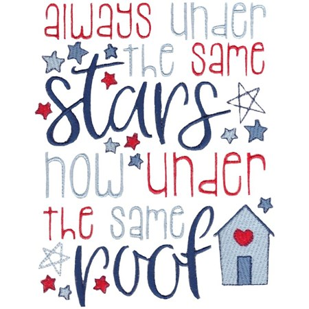 Always Under The Same Stars Now Under The Same Roof