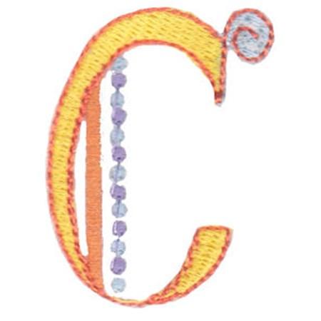 Dangles Capitals Alphabet C
