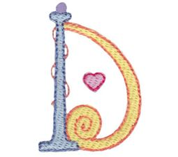 Dangles Capitals Alphabet D