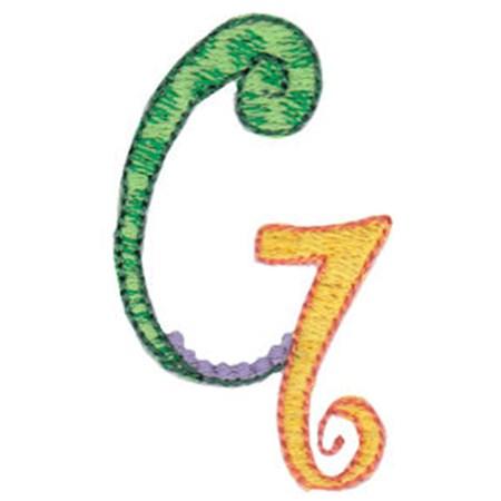 Dangles Capitals Alphabet G
